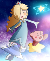 Rosalina and Kirby by VooDooDollMaster