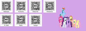 Mane 6 Mii QR codes by TheSonTendo