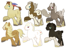 Draft Horse Stallion Adoptables (Closed) by ivyshire