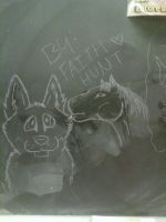 Canine And Horse - Chalk Board by Pink-Monsterz