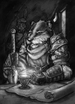 Badger-Lord master-portrait by Briansbigideas
