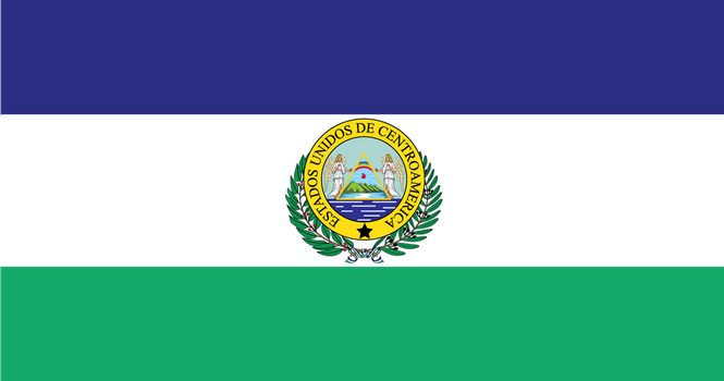 Flag of the United States of Central America by 3D4D