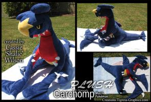 Garchomp plush by Shalie