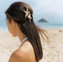 Beach bridal hairstyle with star fish hair by jamesghof