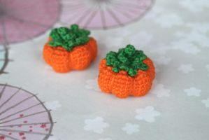 Kawaii Crocheted Amigurumi Harvest Pumpkin by SkySinger92