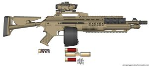 SCAR-4 Super-H Automatic Shotgun by Lord-DracoDraconis