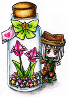 Chibi: Bottled Wish - Coffee by mays-sama