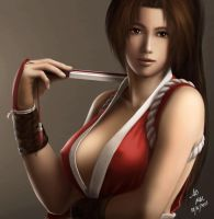 Mai Shiranui by borjen-art