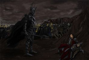 Sauron vs Isildur by maiwand85