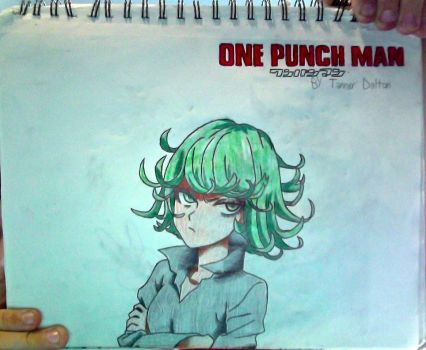 Tatsumaki + One Punch Man logo drawing (Unflipped) by TannMann64