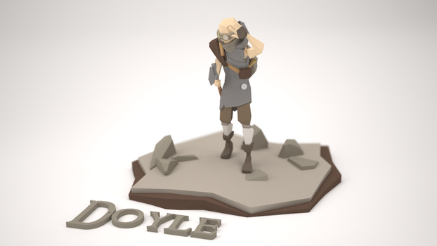 Low Poly Character - Doyle the scavenger by MacLellan