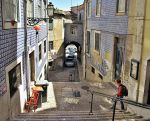 Lisbon revisited 6 (Alfama. red chair) by Borymir