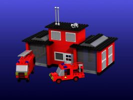 Lego Fire Station by neilwightman