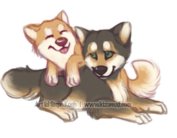 Kizzy and Dag2 by bawky