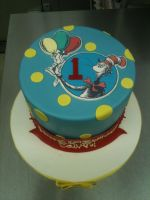 Dr. Suess Birthday Cake by Spudnuts