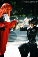 Grell and Seb  Battle by UniWitch