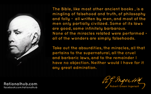 Robert Ingersoll on Bible by rationalhub