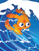 Katsuma Surfing by matthewdickerson