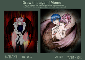 Amuto Demon Tears 2.0 Draw this again meme! by ChibiDairacool
