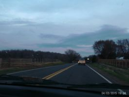 The Sun Setting on US Route 522 by OceanRailroader