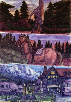 Horses, landscape, buildings tests by elfman83ml