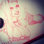 Jinx - close up sketch by dennia