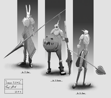 Spearmen 3, 11 and 12 by daft667