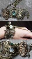 Dragonfly watch cuff by Pinkabsinthe
