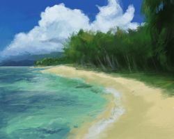 Speed Paint Beach by Eliket