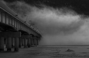 Knik Arm Bridge by Occamsrasr