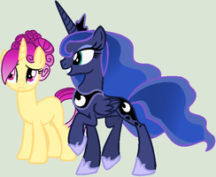 Crystal Sonnet and Luna by ColleenBG