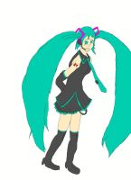 Disappearence of Miku Hatsune (Base Colors) by RunnerGuitar