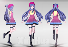 Vocaloid Xin Hua WIPMODEL by Milionna