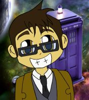 10th Doctor Who Chibi by RaccooninaSuit