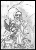 Sesshikya and Sesshomaru by bluebellangel19smj