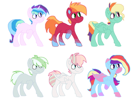 Rainbow X Other Character Adopts by KitCatKombo