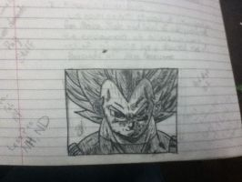 Super Saiyan Vegeta by thisiscray