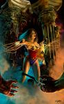 WONDER WOMAN IN HADES by isikol