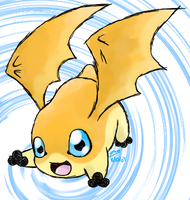 Scribbly Patamon by crayon-chewer