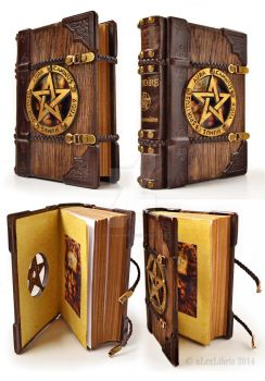 The last one wooden Grimoire... by alexlibris999