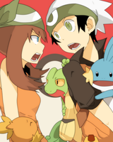 Brendan and May | Hoenn Pokemon Trainers by Mitsu-Ino