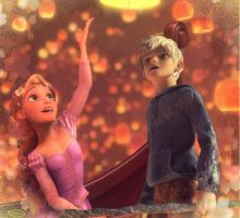 Rapunzel and Jack Frost by identity511