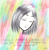Grey Girl, Colourful Thoughts by dulciejackson