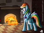 THERE'S A GELATINOUS MONSTER IN MY FIREPLACE! by Bananers97