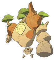 MEGA REGIROCK by HallowDew