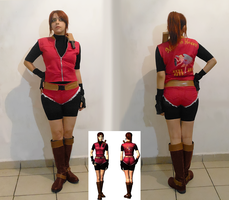 Claire Redfield cosplay - artwork 1 by Queen-Stormcloak