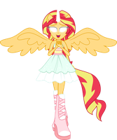 Sunset knows the magic of Friendship by Orin331