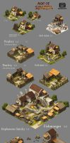 Age of Sparta (Gameloft) building concepts by nennnnnn