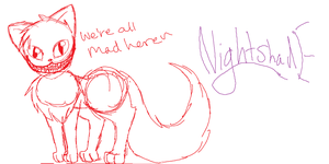 Cheshire cat WIP by theultimatefailure