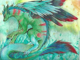 parrot dragon by sakuraswolf